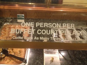Sizzler Fullerton Dessert Bar Message