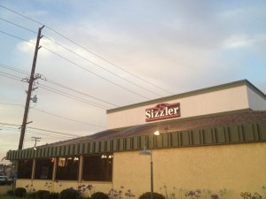 exterior of Sizzler, Fountain Valley, CA