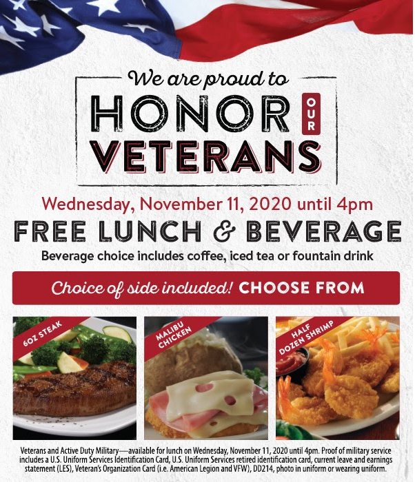 sizzler veterans day special 2020